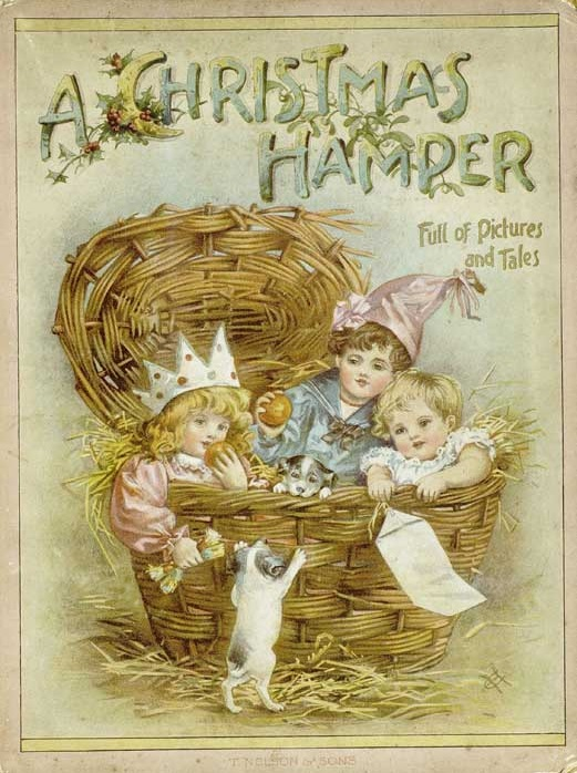 A Christmas Hamper cover. Another Free children's book on the public domain.