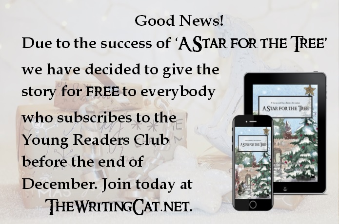 Free childrens Christmas story, 'A Star for the Tree', when you subscribe to the Young Readers club.