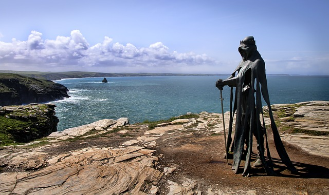 King Arthur's Coastal Statue illustrates the following paragraph about my inspiration for my children's books.